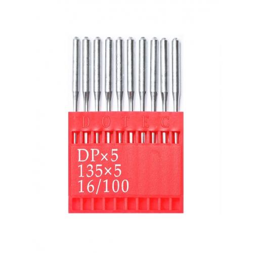 Иглы DOTEC Needle DPx5 №100 - фото в интернет–магазине швейных машинок и аксессуаров в Украине - Sewgroup