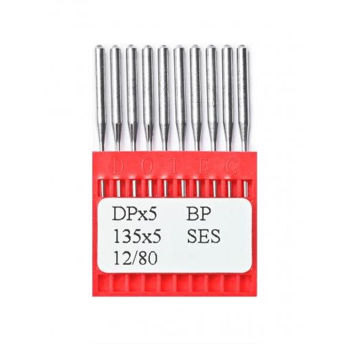 Иглы DOTEC Needle DPx5 BP SES №80 - фото в интернет–магазине швейных машинок и аксессуаров в Украине - Sewgroup
