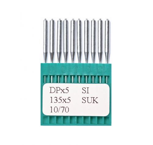 Голки DOTEC Needle DPx5 SI SUK №70 - фото в інтернет-магазині швейних машинок і аксесуарів в Україні - Sewgroup