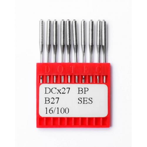 Иглы DOTEC Needle DCx27 BP SES №100 - фото в интернет–магазине швейных машинок и аксессуаров в Украине - Sewgroup