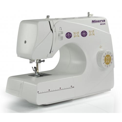 Електромеханічна швейна машина Minerva M32K - фото в інтернет-магазині швейних машинок і аксесуарів в Україні - Sewgroup