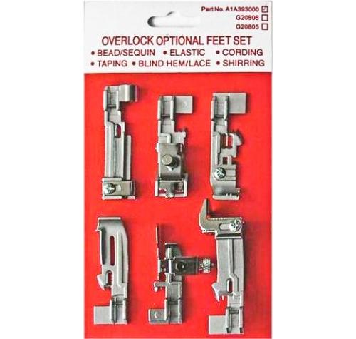 Набір лапок для оверлоків A1A393000 - фото в інтернет-магазині швейних машинок і аксесуарів в Україні - Sewgroup