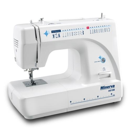 Електромеханічна швейная машина Minerva A819B - фото в інтернет-магазині швейних машинок і аксесуарів в Україні - Sewgroup