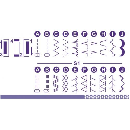 Электромеханическая швейная машина Minerva M819B