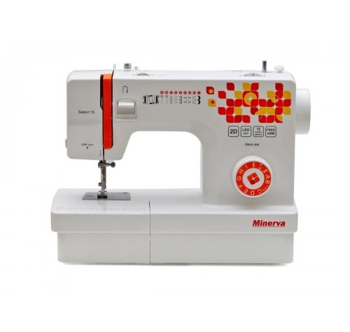 Електромеханічна швейна машина Minerva Select 15 - фото в інтернет-магазині швейних машинок і аксесуарів в Україні - Sewgroup