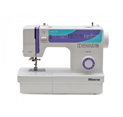 Електромеханічна швейна машина Minerva Smart 40 - фото в інтернет-магазині швейних машинок і аксесуарів в Україні - Sewgroup
