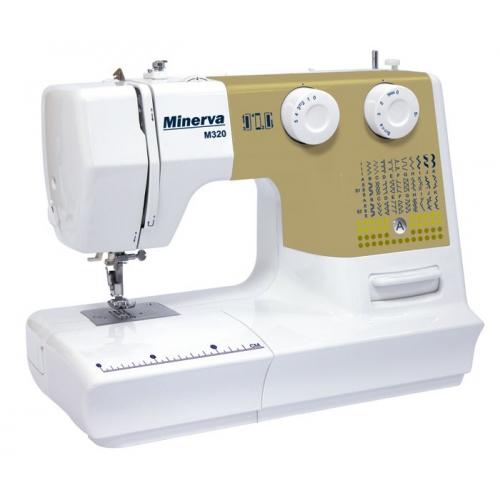 Електромеханічна швейна машина Minerva M320 - фото в інтернет-магазині швейних машинок і аксесуарів в Україні - Sewgroup
